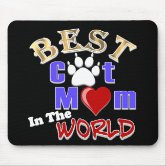 Best Cat Mom In The World Gifts for Mother's Day Mouse Pad