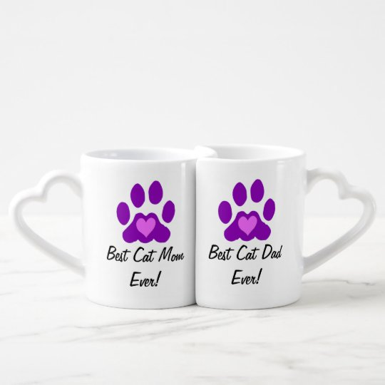 Best Cat Mum and Dad Coffee Mug Set