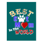 Best Cat Mum In The World Gifts for Mother's Day Postcard