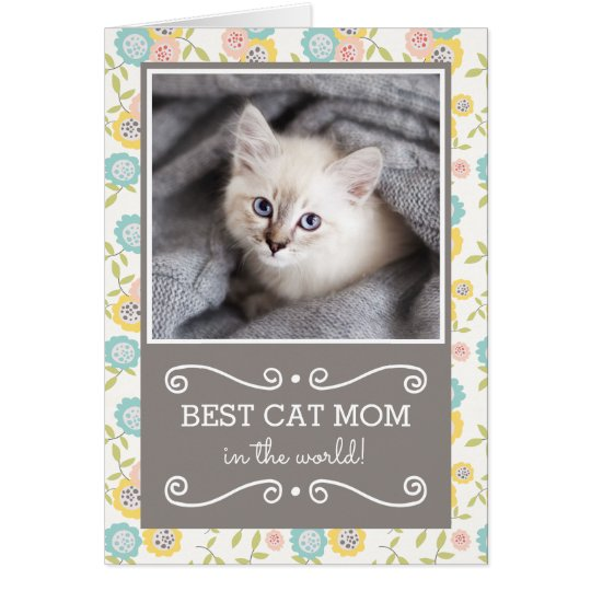 Best Cat Mum Photo Mother's Day Card