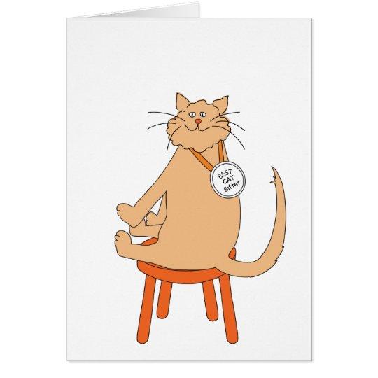 Best Cat Sitter Card