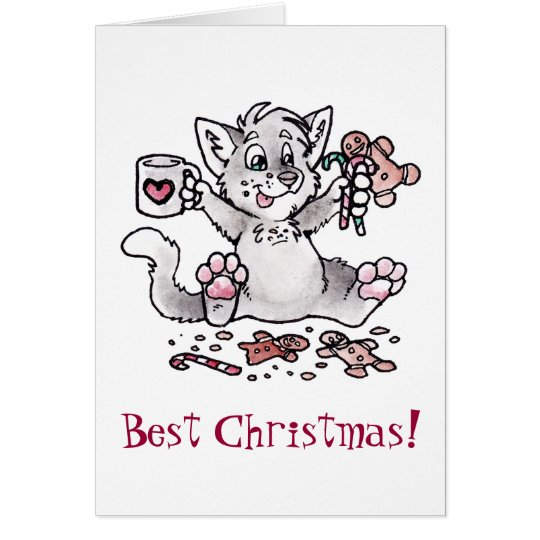 Best Christmas! Cat Card