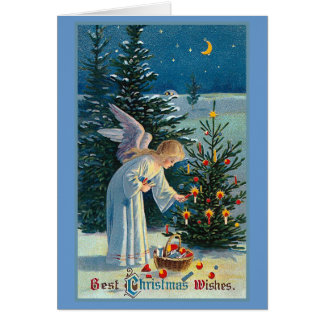 """Best Christmas Wishes"" Vintage Greeting Card"