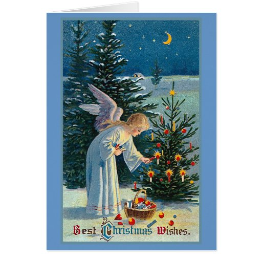 """""""Best Christmas Wishes"""" Vintage Greeting Card"""