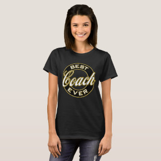 Best Coach Ever T-Shirt (Black & Gold)