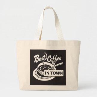 Best Coffee in Town Jumbo Tote Bag