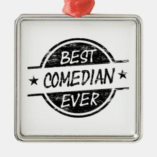 Best Comedian Ever Black Christmas Ornament