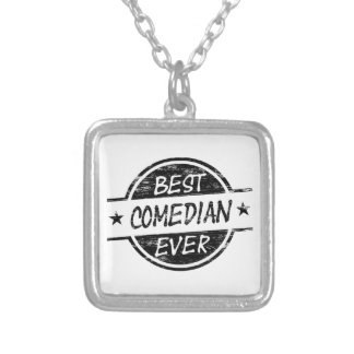 Best Comedian Ever Black Silver Plated Necklace