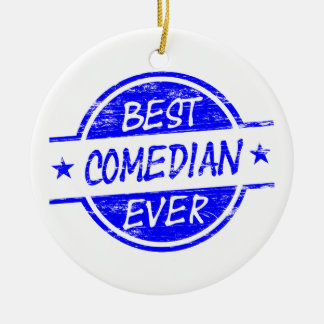 Best Comedian Ever Blue Christmas Ornament