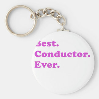Best Conductor Ever Basic Round Button Key Ring