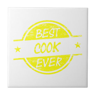 Best Cook Ever Yellow Ceramic Tiles