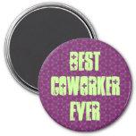 Best Coworker Ever Modern Purple Stars Design