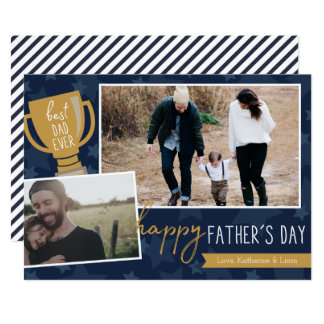 Best Dad Award Photo Greeting Card