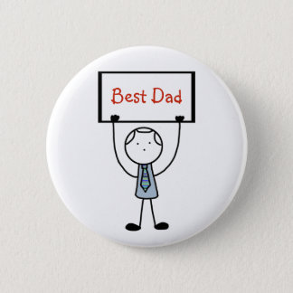 """Best Dad"" Badge/Pin/Button 6 Cm Round Badge"
