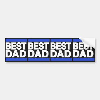 Best Dad Blue Bumper Stickers