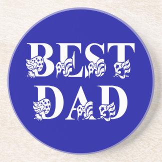 Best Dad Blue Flag Tex Coaster
