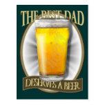 Best Dad Deserves A Beer Post Cards