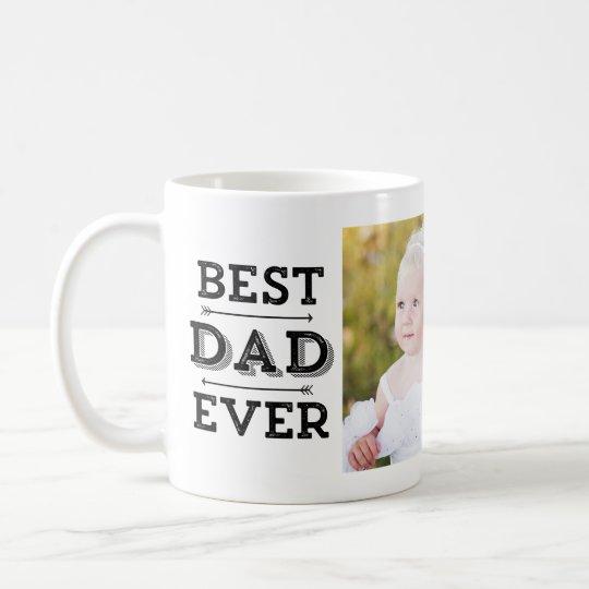 Best Dad Ever Arrows Custom Photo Coffee Mug
