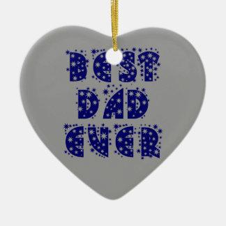 BEST DAD EVER CERAMIC HEART DECORATION