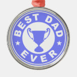 Best Dad Ever Christmas Tree Ornament