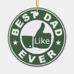 Best Dad Ever Christmas Tree Ornaments