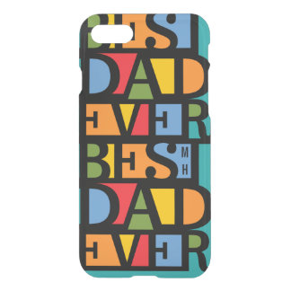 BEST DAD EVER custom monogram cases