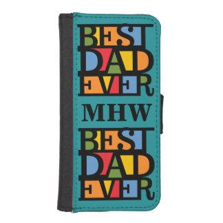 BEST DAD EVER custom monogram phone wallets