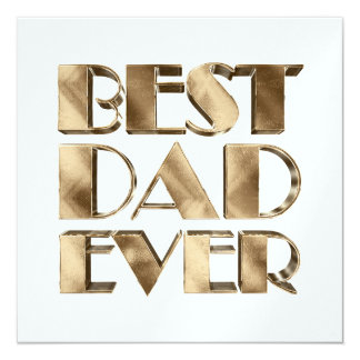 Best Dad Ever Elegant Golden Text Gold Typography Card