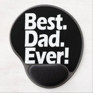 Best Dad Ever Exclamation Black White Father s Day Gel Mouse Pads