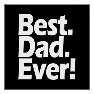 Best Dad Ever Exclamation Black/White Father's Day