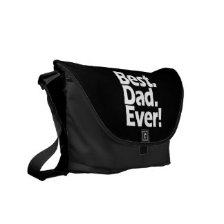 Best Dad Ever Exclamation Black/White Father's Day Commuter Bags