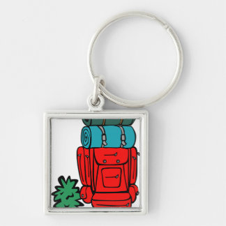 best dad ever father pops papa parent camp hike Silver-Colored square key ring