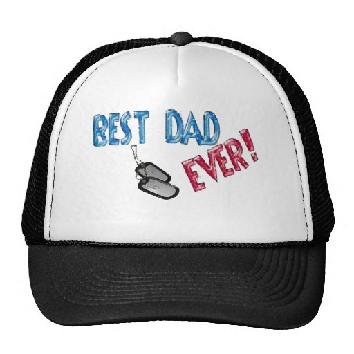 Best Dad Ever. Happy Father's Day Mesh Hat