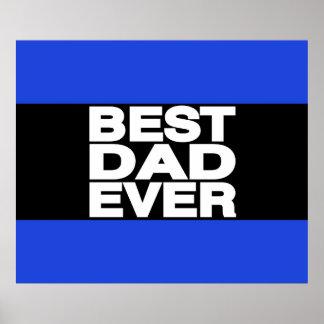 Best Dad Ever Lg Blue Print