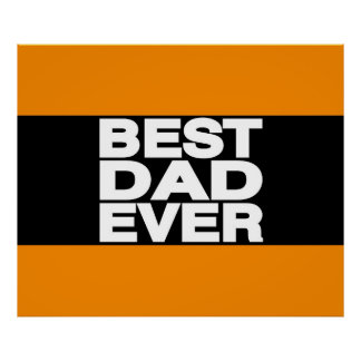 Best Dad Ever Lg Orange Print