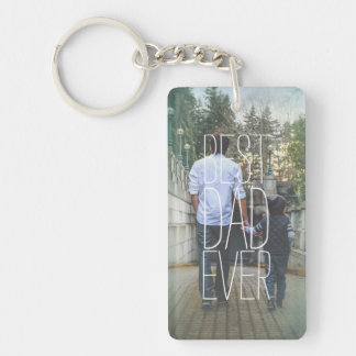 Best Dad Ever Photo Modern Key Ring