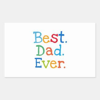 Best Dad Ever Rectangular Sticker