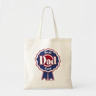 Best Dad Ever ribbon Budget Tote Bag