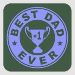 Best Dad Ever Square Stickers