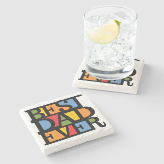 BEST DAD EVER stone coasters