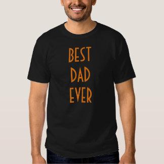 Best Dad Ever T-Shirt - Black Orange Funny Tees