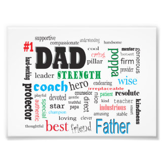 Best Dad Father Word Cloud Art Photo