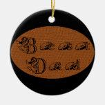 Best Dad Football Text Ornament