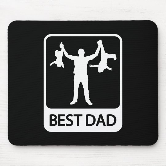 Best Dad - Funny Silhouette of Father Holding