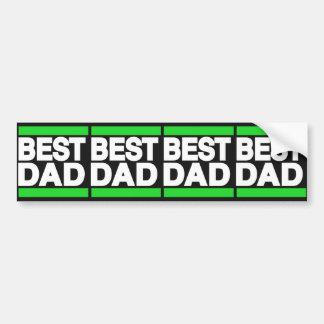 Best Dad Green Bumper Sticker