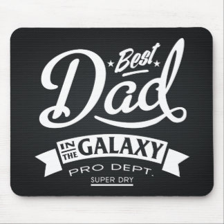 Best Dad In The Galaxy Dark (Carbon Background) Mouse Mat