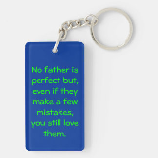 Best DAD in the world (Almost) Double-Sided Rectangular Acrylic Key Ring