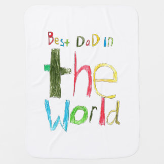 Best Dad in the World Swaddle Blankets
