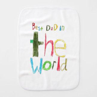 Best Dad in the World Baby Burp Cloths