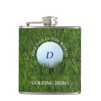 Best Dad in the World Golfing Hero Flask